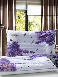 Shuian® Comforter Fill Lavender No Deformation Single Health Pillow