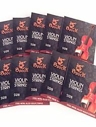 10Pcs Mild steel rope in The Violin String S128 Alloy Set Fit For 1/8-4/4 Violin