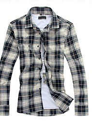 Men's Print Casual / Work / Formal Shirt,Cotton / Others Long Sleeve