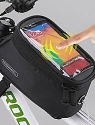 Bag Cell Phone / Marsupio triangolare da telaio bici - Impermeabile / Touch Screen - di Tessuto sintetico - Giallo / Rosso / Blu / Nero