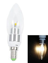 Warm White Light LED Candle Light Bulb (AC 220V) E14 3W