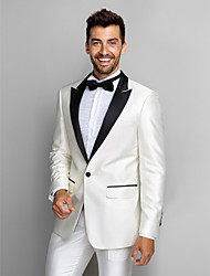Black&White Polyester Slim Fit Two-Piece Tuxedo