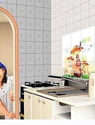 botaniques maison de champignon anti-pétrole stickers muraux