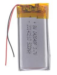 3.7V 500mAh Lithium Polymer Batterie pour les téléphones portables MP3 MP4 (4 * 20 * 48)