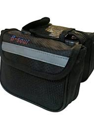 b-Seele 600D Polyester schwarz wasserdichte tragbare Fahrradrahmentasche mit Reflexstreifen