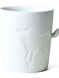"""330ml Cerâmica padrão criativo cervos Copa com cauda punho, 3,9 X3.7 """"X3.3"""" """""""