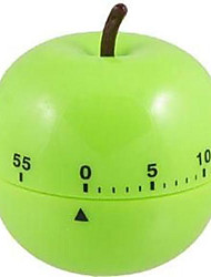 "Apple Shaped Mechanical Kitchen Timer , Plastic 2.4""X2.4""X4"""