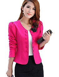 Mengsha Solid Color Fashion Fitted Blazer