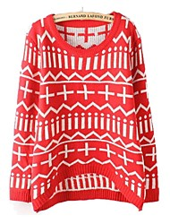 Women's Round Cross Loose Pullover Knitwear Sweater