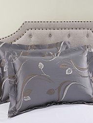 2 Piece - Country Artistic Leaves Pattern Std Shams