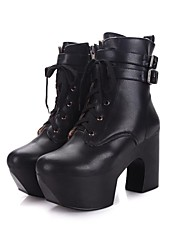 Women's Chunky Heel Round Toe Ankle Fashion Boots Shoes(More Colors)
