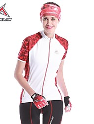 MYSENLAN Women's Cycling Tops / Jerseys Short Sleeve Bike Spring / SummerBreathable / High Breathability (>15,001g) / Ultraviolet