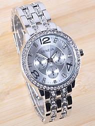 TIMI Женская Бриллиант Круглый циферблат золото Сталь наручные часы-W1256