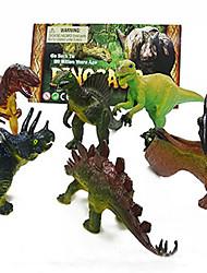 6-Pack Dinosaurier-Modell Anzug Action-Figuren Spielzeug
