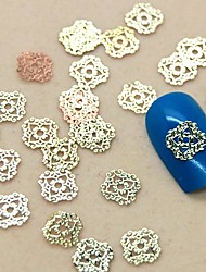200PCS Hollow Lace Design Golden Metal Slice Nail Art Decoration