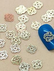 200шт полую конструкцию кружева золотой металл ломтик украшение искусства ногтя