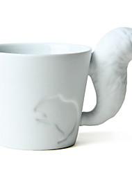 """150ml de cerâmica criativa Squirrel Padrão Copa com cauda punho, 4,3 x2.8 """"x3"""" """""""
