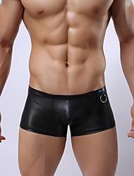 Sexy imitation cuir sous-vêtements pour hommes