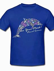 бесплатно! Харука Nanase синего хлопка косплей футболку