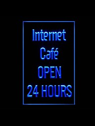 Internet Cafe 24 Horas Publicidade LED Sign