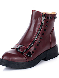 Women's Low Heel Ankle Motorcycle Boots(More Colors)
