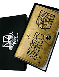 Ataque em Titã pesquisa Corps Corp Wings of Freedom Long Wallet Parágrafo Couro Cosplay Acessório