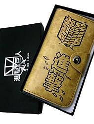Нападение на Титан обследования корпуса Corp Крылья Свободы Лонг Пункт кожаный бумажник Косплей Аксессуары