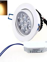 теплый белый свет Светодиодная лампа потолка AC 85 ~ 265V 7W