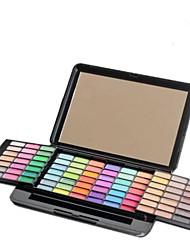 profissional 84 cores brilho&fosco compõem paleta sombra de olho com espelho / escova