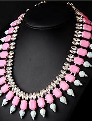 collar de piedras preciosas caída de la moda de las mujeres