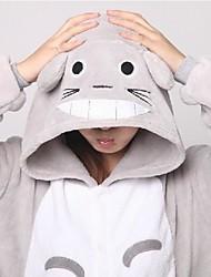 Kigurumi Pijamas Gato / Totoro Malha Collant/Pijama Macacão / Chinelos Festival/Celebração Pijamas Animal Branco MiscelâneaVelocino de