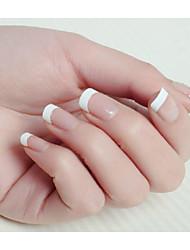 10x50PCS Mixs Size White Smile Nail Art French Tips