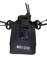 MSC-20B Universal Nylon Adjustable Shoulder / Strap / Waist Bag for Walkie Talkie - Black