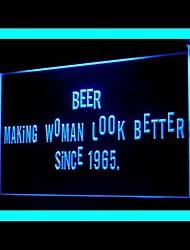 Bière femmes à mieux Publicité LED Connexion