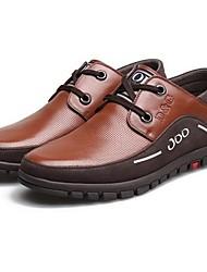 conforto oxfords de salto baixo dos homens de couro elevador lace-up sapatos dividir conjuntas (mais cores)