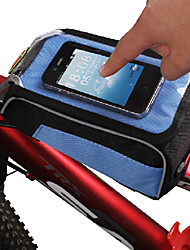YELVQI Polyamides Pink Bicycle Front Bag with Transparent PVA Touchable Mobile Phone Screen