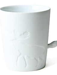 """530ml Cerâmica padrão criativo Elk Copa com cauda punho, 4,3 x4.3 """"X3.6"""" """""""