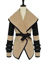 elegante abrigo de cuello de solapa de MASA mujeres