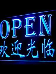 Bem-vindo Abrir Publicidade LED Sign