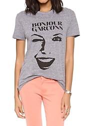 Standard - Undurchsichtig - Leger/Bedruckt - T-Shirt (Baumwolle)