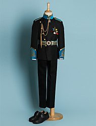 Black/Ivory Polyester Ring Bearer Suit - 4 Pieces
