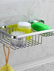 Chrom-Finish Edelstahl Material Duschkörbe mit Haken