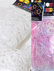 baoguang®600pcs couleur arc-en-mode changement métier à tisser uv de couleur bande de caoutchouc (le clip de 1package)