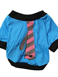 Cat / Dog Shirt / T-Shirt Black / Blue / Yellow / Purple Dog Clothes Spring/Fall Neck Tie