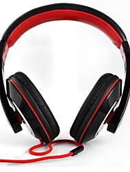 bk-0780 cuffie da 3,5 mm sopra l'orecchio con il microfono per il telefono mobile, computer