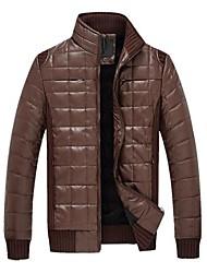 dos homens pé da gola manga longa de algodão acolchoado jaqueta de base 1201