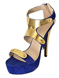 bc Wildleder Frauen Pfennigabsatz Plattform Sandalen Schuhe