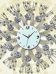 "28""Modern Floral Pattern Iron Wall Clock"