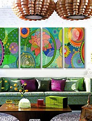 Stretched Canvas Art The Decorative Pattern of Color Adornment Picture  Set of 4