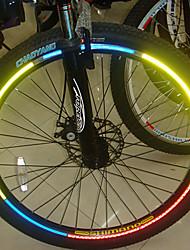 YELVQI da bicicleta da bicicleta reflexiva Stickers